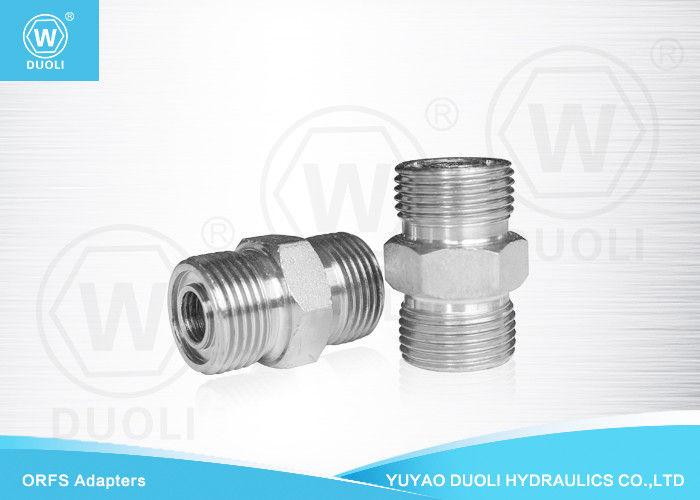 Carbon steel hydraulic male orfs adapter thread o ring